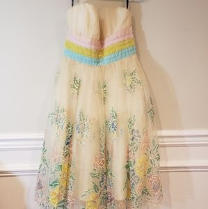 Betsey Johnson Bows and Tulle Flora Print Dress